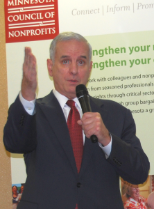 Governor Dayton at the 2012 Session Line Up