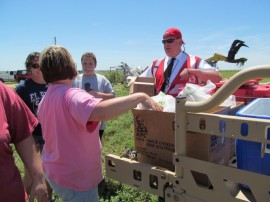 The Polaris Foundation donated ATVs for use in relief and clean-up efforts after the May 2013 Moore, Oklahoma tornado.