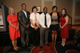 The Saint Paul Foundation's Carleen Rhodes with this year's Ambassador Awards honorees.